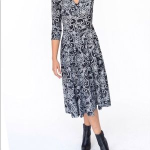 NWT Agnes and Dora black and white floral dress